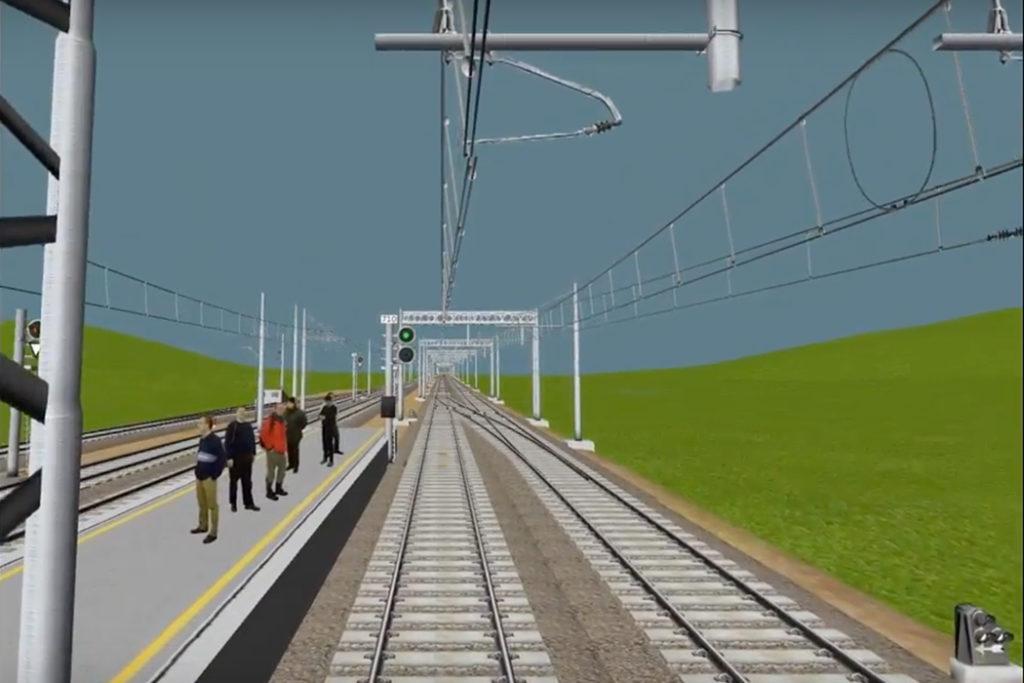 simulatore di guida ferroviario